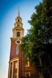 Park Street Church in Boston, Massachusetts. Royalty Free Stock Photo