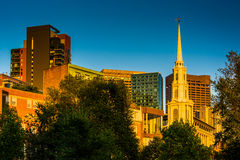 Park Street Church and buildings in Boston, Massachusetts. Stock Photos