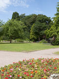Park in summer. Colourful park with flowerbed in summer Royalty Free Stock Photos