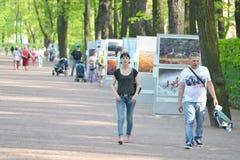 Park Summer Garden in St.Petersburg Stock Image