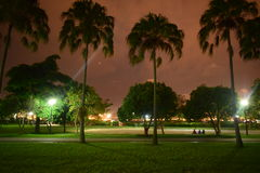 At the park. Sunsent at singapore west cost Stock Image