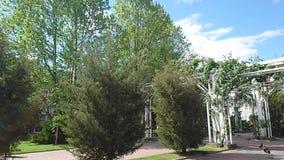 The park in Targu Jiu Prefecture Square, Romania 1