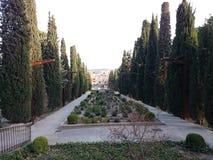 Park in Tarrega, Spanien Stockbild