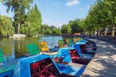 Park in Ternopil Lizenzfreie Stockbilder