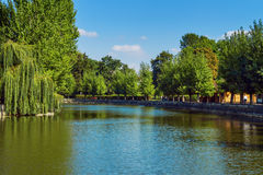 Park in Ternopil Royalty Free Stock Image