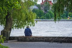 Park in Ternopil Royalty Free Stock Photo