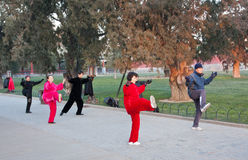 The park to exercise Chinese elderly royalty free stock photo