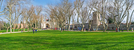 The park of Topkapi Palace Stock Images