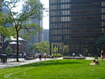 Park in Toronto Financial District Royalty Free Stock Image