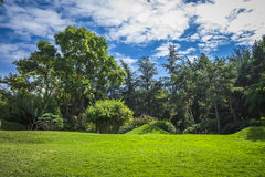 Park in Toulouse in the summer Stock Photography