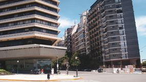 San martin square in buenos aires royalty free stock images