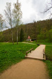 Park in the town of Sigulda Royalty Free Stock Photos