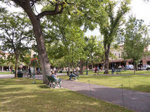 Park in the Town Square in Santa Fe New Mexico USA Stock Images
