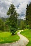 Park in Trakoscan, Kroatien stockbilder