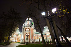 Park in Tsaritsino at night Royalty Free Stock Photography