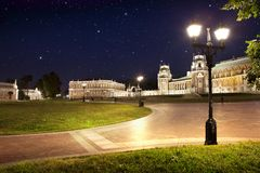 Park Tsaritsino in the night Royalty Free Stock Image