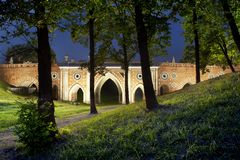 Park Tsaritsino. Old bridge Royalty Free Stock Photos