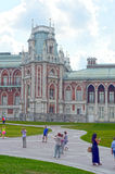 Park Tsaritsyno. The Grand Palace. Architect Kazakov. Eight angular towers. Pseudo Gothik Stock Photos