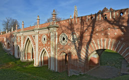 Park Tsaritsyno State historical museum Royalty Free Stock Images