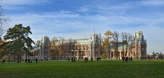 The Park Tsaritsyno State historical Museum stock image