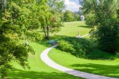 Park in Turaida Museum Reserve, Latv. Ia royalty free stock photos