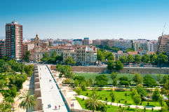 Park Turia in Valencia, Spain. Park made in old riverbed Stock Photography