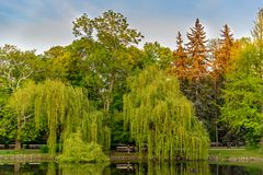 Park Ujazdowski is one of the most picturesque parks of Warsaw, Poland. Warsaw, Mazovia Province / Poland - 05/06/2019. Park Ujazdowski is one of the most royalty free stock photos