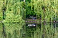 Park Ujazdowski is one of the most picturesque parks of Warsaw, Poland. Warsaw, Mazovia Province / Poland - 05/06/2019. Park Ujazdowski is one of the most stock images