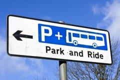 Park und Fahrt lizenzfreies stockfoto