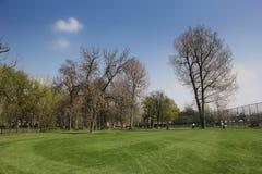 Park und Golfplatz in Ada Ciganlija Lizenzfreies Stockfoto