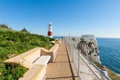 Park und Leuchtturm in Gibraltar Lizenzfreie Stockbilder