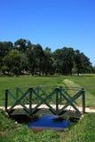 Park und Strom Stockbild