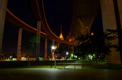 Park under a freeway Royalty Free Stock Photography