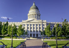 Park at the Utah state capital building Stock Images