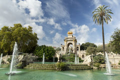 Park van Barcelona, Spanje Royalty-vrije Stock Foto's