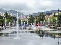 Park van de stad van Nice tijdens EURO 2016 Stock Fotografie