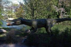 Park van dinosaurussen in Denemarken stock afbeelding