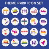 Park van het pictogram het vastgestelde thema vector illustratie