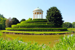 Park in Vicenza. Rotunda in the Center of the Pond in Vicenza royalty free stock photography