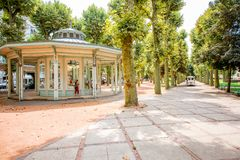 Park in Vichy city, France Royalty Free Stock Images