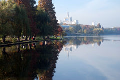 Park view. View from herastrau park in bucharest romania Stock Image