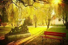 Park. View of autumn in the park Stock Image