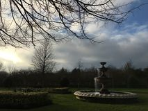 Park View. Sunny Warm in the park with natural Royalty Free Stock Photography