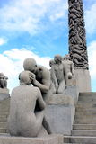 Park Vigeland. The tangled human bodies of the famous sculptures in park Vigeland, Oslo Stock Images
