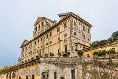 Park and villa Aldobrandini in Frascati, Italy Royalty Free Stock Photos