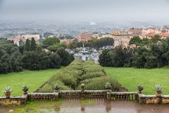 Park and villa Aldobrandini in Frascati, Italy Royalty Free Stock Photography