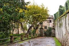 Park and villa Aldobrandini in Frascati, Italy Royalty Free Stock Image
