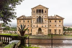 Park and villa Aldobrandini in Frascati, Italy Stock Image