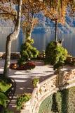 The park of Villa Balbianello in Lenno, Lake Como, Italy.  stock photography