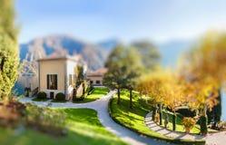 The park of Villa Balbianello in Lenno, Lake Como, Italy Stock Image
